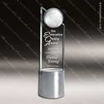 Crystal Aluminium Accented Global Pinnacle Trophy Award Topmost Prism Crystal Trophy Awards