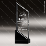 Crystal Black Accented Rising Sail Trophy Award Topmost Prism Crystal Trophy Awards