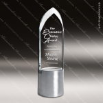 Crystal Aluminium Accented Dignity Trophy Award Topmost Prism Crystal Trophy Awards