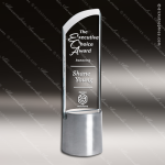 Crystal Aluminium Accented Divine Trophy Award Topmost Prism Crystal Trophy Awards
