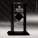 Crystal Black Accented Flair Ebony Diamond Trophy Award Topmost Prism Crystal Trophy Awards