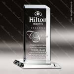 Crystal  Clear Rectangle Vertical Plaque Trophy Award Topmost Prism Crystal Trophy Awards