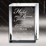 Crystal  Clear Rectangle Book Trophy Award Topmost Prism Crystal Trophy Awards
