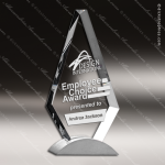 Crystal Silver Accented Royal Diamond Trophy Award Topmost Prism Crystal Trophy Awards