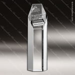 Crystal  Clear Hexagon Tower Trophy Award Topmost Prism Crystal Trophy Awards
