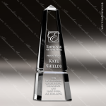 Crystal  Clear Obelisk Super Groove Trophy Award Topmost Prism Crystal Trophy Awards