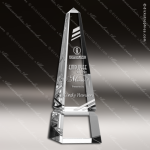 Crystal  Clear Obelisk Groove Trophy Award Topmost Prism Crystal Trophy Awards