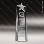 Crystal Silver Accented Metal Star Tower Trophy Award Topmost Prism Crystal Trophy Awards