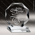 Crystal  Clear Octagon Prestige Trophy Award Topmost Prism Crystal Trophy Awards