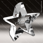 Crystal  Clear Starburst Achiever Trophy Award Topmost Prism Crystal Trophy Awards