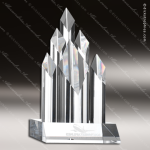 Crystal  Clear Super Five Star Diamond Trophy Award Topmost Prism Crystal Trophy Awards