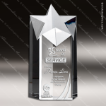 Crystal  Clear Super Star Tower Trophy Award Topmost Prism Crystal Trophy Awards