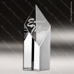 Crystal  Clear Super Diamond Tower Trophy Award Topmost Prism Crystal Trophy Awards