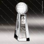Crystal Sport Championship Volleyball Tower Trophy Award Topmost Prism Crystal Trophy Awards