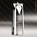 Crystal  Clear Star Obelisk Trophy Award Topmost Prism Crystal Trophy Awards