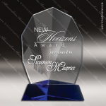 Crystal Blue Accented Fandango Trophy Award Toujours Series Crystal Trophy Awards