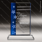 Crystal Blue Accented Gemini Star Trophy Award Toujours Series Crystal Trophy Awards