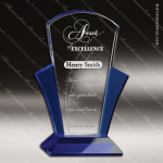 Crystal Blue Accented Envy Trophy Award Toujours Series Crystal Trophy Awards
