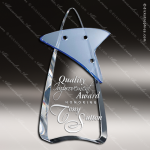 Crystal Blue Accented Pandemonium Trophy Award Toujours Series Crystal Trophy Awards