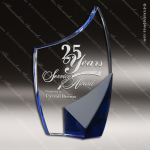 Crystal Blue Accented Trance Trophy Award Toujours Series Crystal Trophy Awards