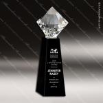 Crystal Black Accented Brilliant Jewel Trophy Award Toujours Series Crystal Trophy Awards