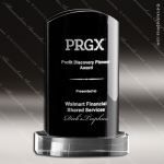 Crystal Black Accented Confidential Trophy Award Toujours Series Crystal Trophy Awards