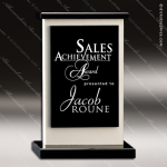 Crystal Black Accented Cameo Trophy Award Toujours Series Crystal Trophy Awards