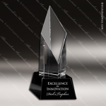 Crystal Black Accented Maxim Trophy Award Toujours Series Crystal Trophy Awards