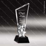 Crystal Black Accented M.C. Hollywood Star Trophy Award Toujours Series Crystal Trophy Awards
