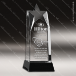 Crystal Black Accented Allure Star Trophy Award Toujours Series Crystal Trophy Awards
