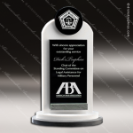 Crystal Black Accented Reel Trophy Award Toujours Series Crystal Trophy Awards