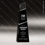 Crystal Black Accented Beacon Trophy Award Toujours Series Crystal Trophy Awards