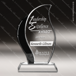 Crystal Black Accented Artisan Trophy Award Toujours Series Crystal Trophy Awards