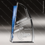 Crystal Blue Accented Destiny Trophy Award Toujours Series Crystal Trophy Awards