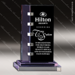 Crystal Purple Accented Connect Trophy Award Toujours Series Crystal Trophy Awards