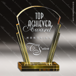 Crystal Gold Accented Shell Trophy Award Toujours Series Crystal Trophy Awards