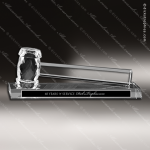 Crystal Gavel Pure K9 Premium Engraved President Award Toujours Series Crystal Trophy Awards