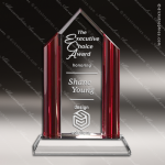 Crystal Red Accented Fashion District Trophy Award Toujours Series Crystal Trophy Awards