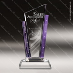 Crystal Purple Accented Tesoro with Rhinestones Trophy Award Toujours Series Crystal Trophy Awards