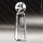 Crystal  Discovery Globe Trophy Award Toujours Series Crystal Trophy Awards