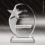 Crystal  Oval Star Trophy Award Toujours Series Crystal Trophy Awards