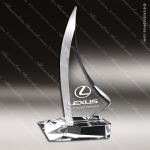 Crystal  Sail Boat Trophy Award Toujours Series Crystal Trophy Awards