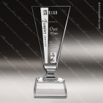 Crystal  Cleo Trophy Award Toujours Series Crystal Trophy Awards