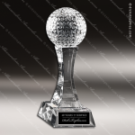 Crystal Sport  Tee It Up Golf Trophy Award Toujours Series Crystal Trophy Awards