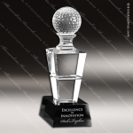 Crystal Sport Black Accented Horizon Trophy Award Toujours Series Crystal Trophy Awards