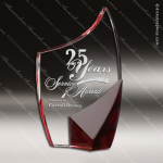 Crystal Red Accented Trance Trophy Award Toujours Series Crystal Trophy Awards
