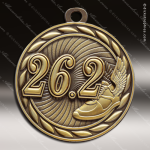 Medallion Sculpted Series 26.2 Mile Running Medal Track Running Medals