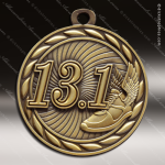 Medallion Sculpted Series 13.1 Mile Running Medal Track Running Medals