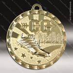 Medallion Brite Gold Series Cross Country Medal Track Running Medals