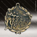 Medallion Wreath Series Track Cross Country Medal - Female Track Running Medals